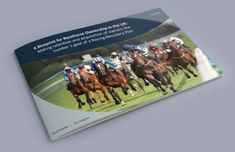 A printed copy of Blueprint for a Racing Recovery Plan